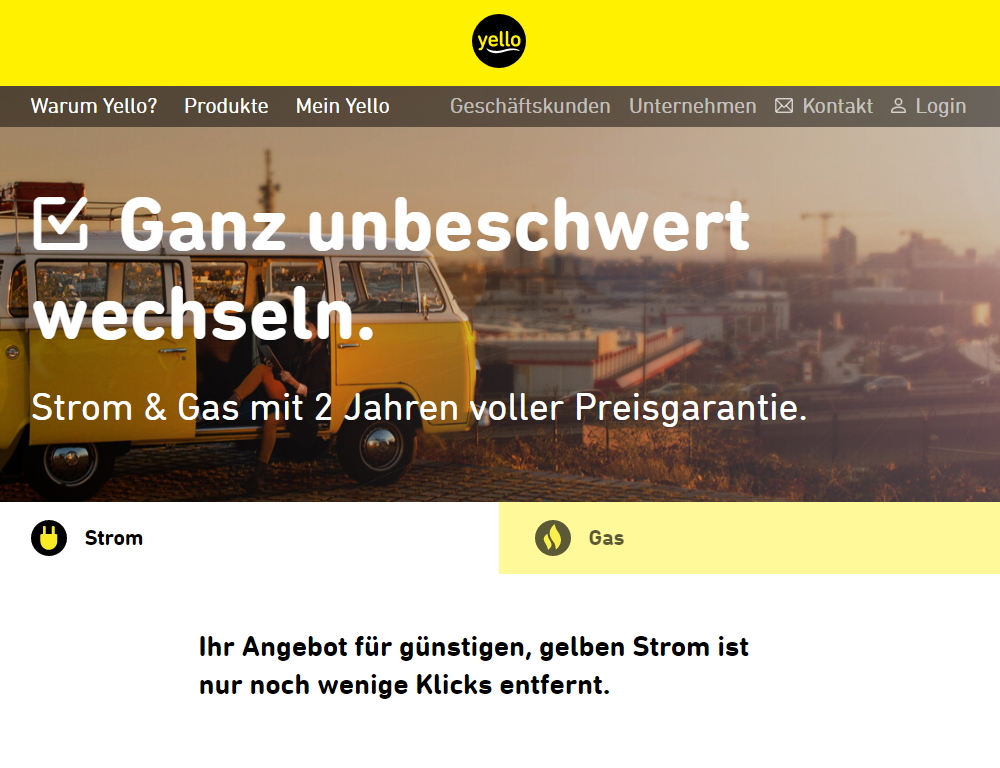 Yello Strom Angebot
