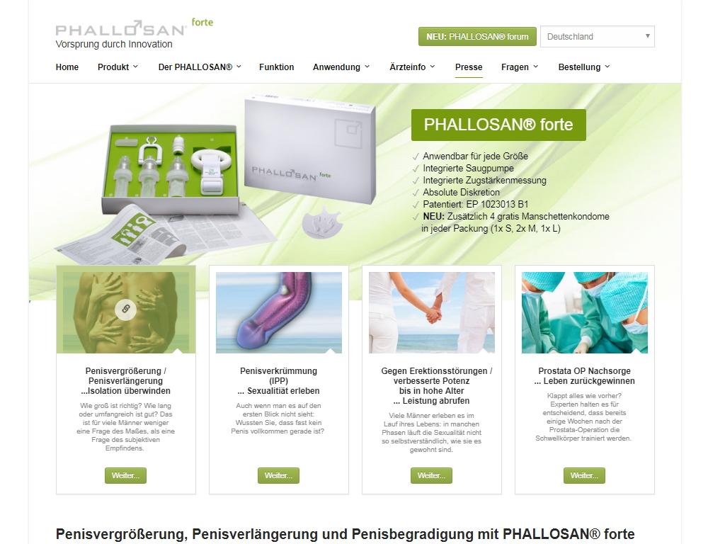 Phallosan Forte Homepage