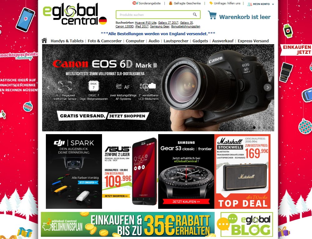 eGlobal Central Angebot