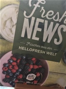 HelloFresh Test Rezept Karte
