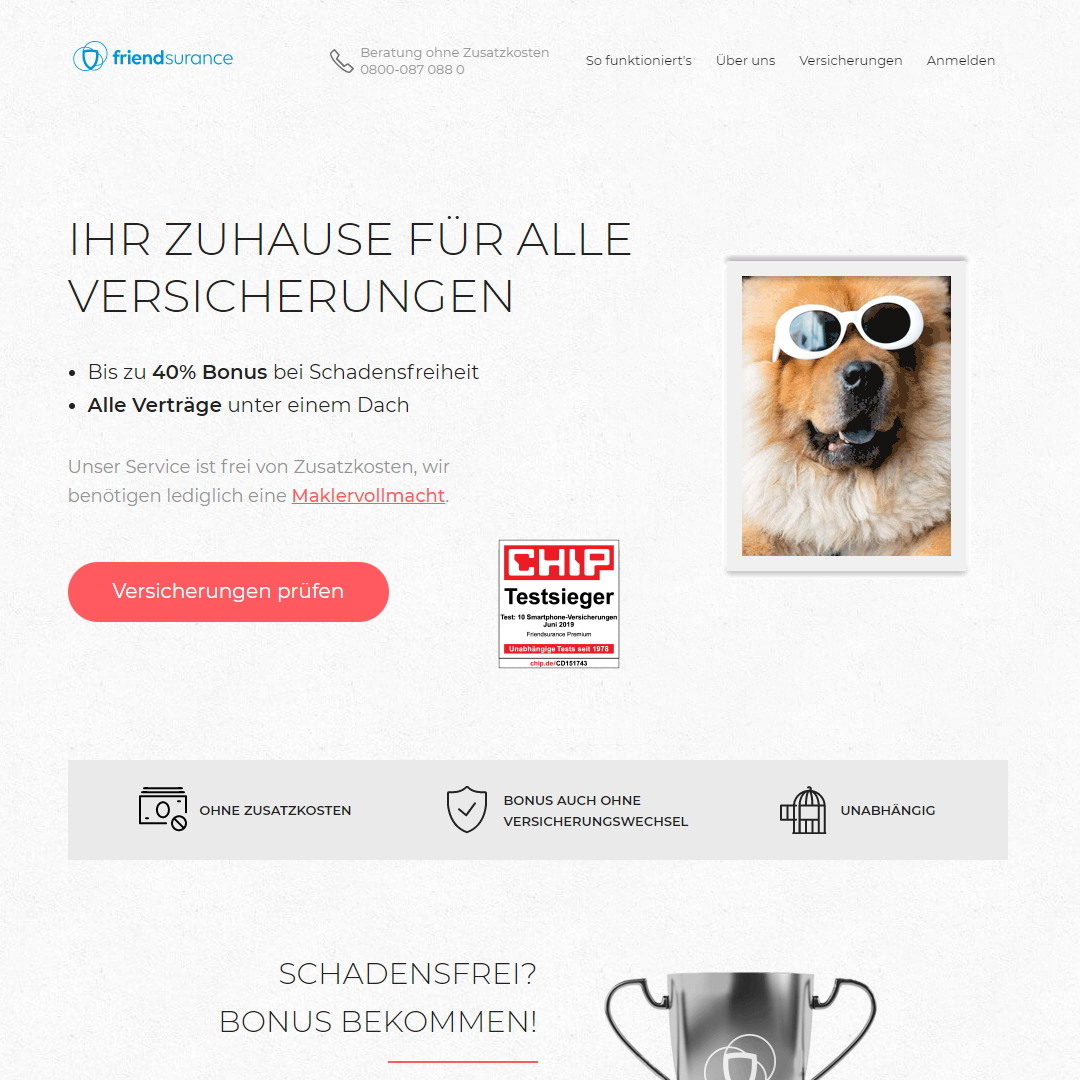 friendsurance Angebot